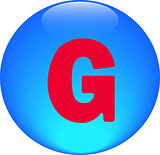  Alphabet icon symbol letter G