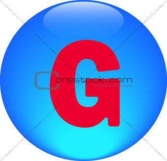 Alphabet icon symbol letter G