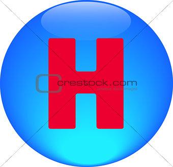 Alphabet icon symbol letter H