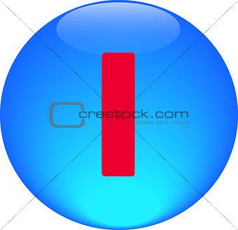 Alphabet icon symbol letter I