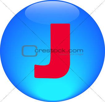 Alphabet icon symbol letter J