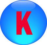 Alphabet icon symbol letter K
