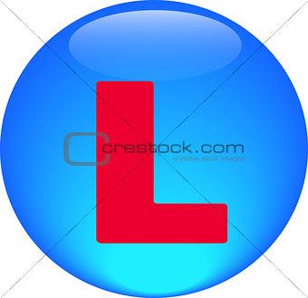 Alphabet icon symbol letter L