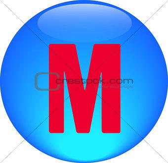 Alphabet icon symbol letter M