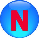 Alphabet icon symbol letter N