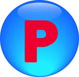 Alphabet icon symbol letter P