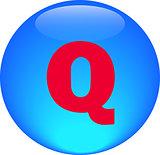 Alphabet icon symbol letter Q