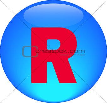 Alphabet icon symbol letter R