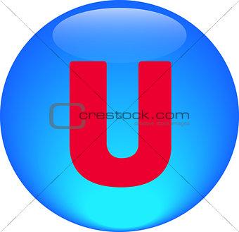 Alphabet icon symbol letter U