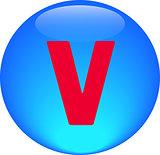 Alphabet icon symbol letter V