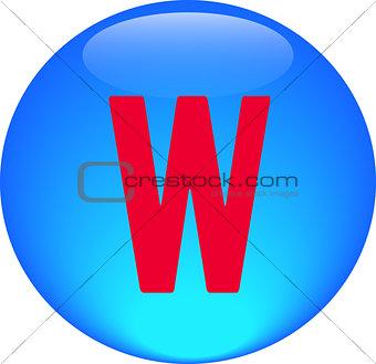 Alphabet icon symbol letter W