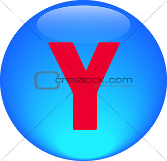 Alphabet icon symbol letter Y