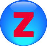 Alphabet icon symbol letter Z