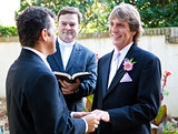 Gay Couple Exchanges Wedding Vows