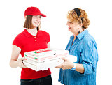 Pizza Home Delivery on White