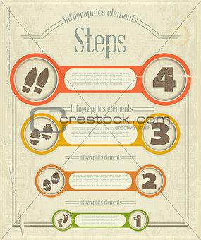 Vintage Infographics design