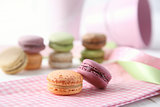 Macaroons on napkin
