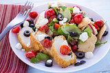 Middle Eastern Bread Salad with Chicken