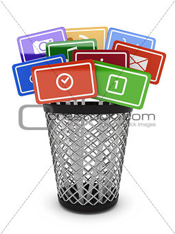 media concept bucket