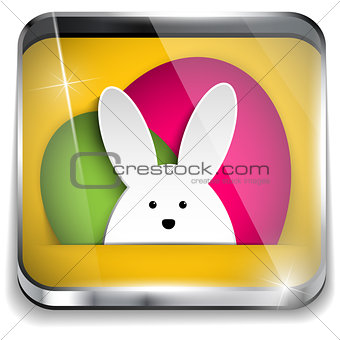 Happy Easter Glossy Application Button
