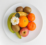 Healthy fruits on plate
