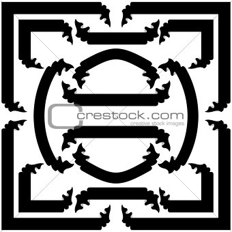 Set  black ribbons  and banners, vector illustration