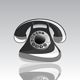 Vector illustration of Icon of old phone