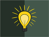 Lamp of think idea illustration