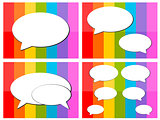 talk icon in colorful background illustration