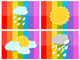 Weather icon in colorful background illustration