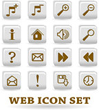 the vector set web icon