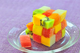 cube fruits salad