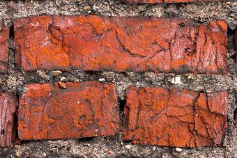 three Bricks in old Wall