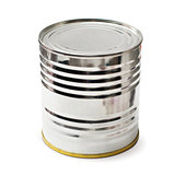 silver tin with clipping path