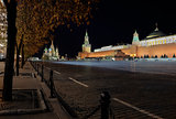 Night view of red Square, Moscow, Russia