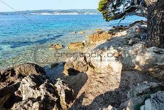 Summer stony beach (Croatia)