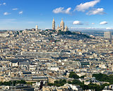 Montmartre from Eiffel Tower
