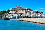 Sa Penya and Dalt Vila districts in Ibiza Town, Balearic Islands