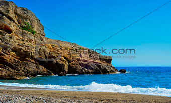 Torn Beach in Hospitalet del Infant, Spain
