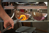 Colorizing Molten Glass