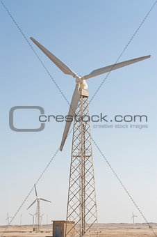 Electric wind turbine generators