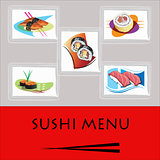 Sushi menu