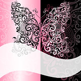 Pink-black vintage romantic frame