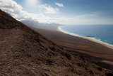 Fuerteventura mountain and beach