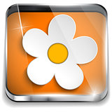 Spring Flower in Smartphone Application Box