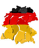Germany map cracked