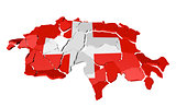 Switzerland map cracked