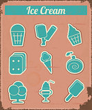 Ice Cream - Vintage set labels