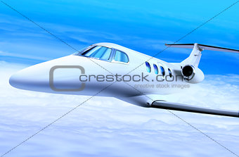 private white jet