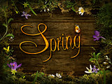Spring design - Flower wreath